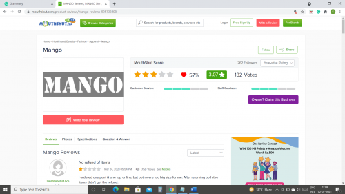 Mango Clothing Reviews